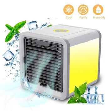 Personal Space Air Cooler Arctic 3-in-1 Portable Mini Cooler with 7 Colors LED Lights Humidifier & Purifier Home Office