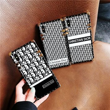 Dior Tide brand female soft shell iPhone7plus mobile phone case cover