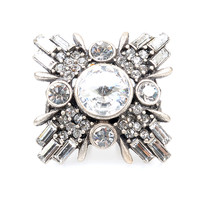 Crystal Art Deco Star Ring