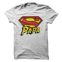 Super Papa Tshirt Fathers Day Shirt Man Myth Legend Tee Grandpa Dad Shirts