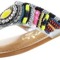 Naughty Monkey Electric Shine Women's Beaded Sandals Shoes