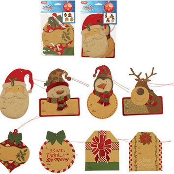 Hot Stamped Brown Kraft Gift Tags with Strings Case Pack 72