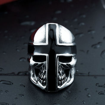 Brothers in Battle Knight Skull Ring