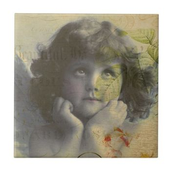 French Postcard Ceramic Tile