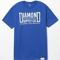 Diamond Supply Co Maker Block T-Shirt - Mens Tee - Blue