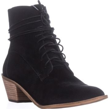 Kelsi Dagger Brooklyn Kingsdale Lace Up Ankle Boots, Black, 9.5 US