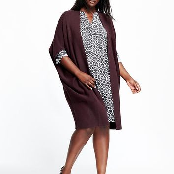 Old Navy Womens Plus Long Cocoon Cardigan