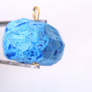 Blue galaxy geo pendant necklace