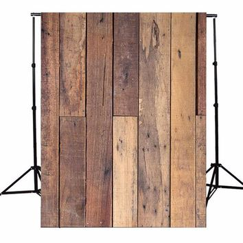 Durable 5x7ft Wood Wall Floor Vinyl Photography Background For Studio Photo Props Photographic Backdrops 1.5 x 2.1m light weight