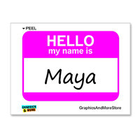 Maya Hello My Name Is Sticker