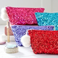Sparkle Sequin Beauty Pouch