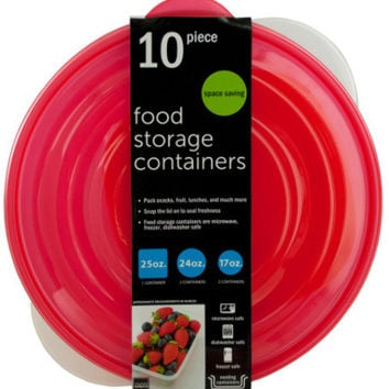 round nesting food storage containers Case of 2