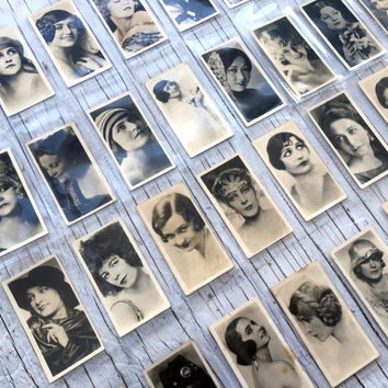 National types of Beauty, a full set of 36 cards, circa 1925. Real photographs. Collectable cigarette cards from Sarony Cigarettes.