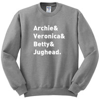 "Riverdale ""Archie & Veronica & Betty & Jughead"" Crewneck Sweatshirt"