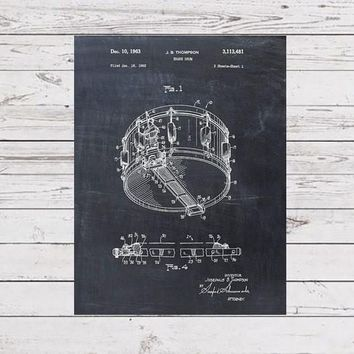 Patent Print of a Snare Drum Patent Art Print Patent Poster