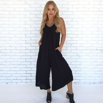 Let Loose Jumpsuit in Black