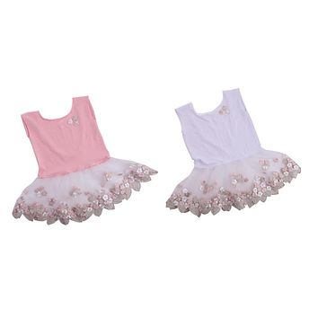 New Newborn Baby Girls Tulle Embroidery Flower Dress Photography Props Photo Costume