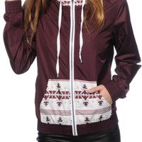 Empyre Bowery Blackberry Tribal Windbreaker Jacket
