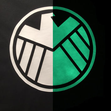 Avengers Agents of Shield Glow In The Dark T-Shirt. available in Multiple Colors.