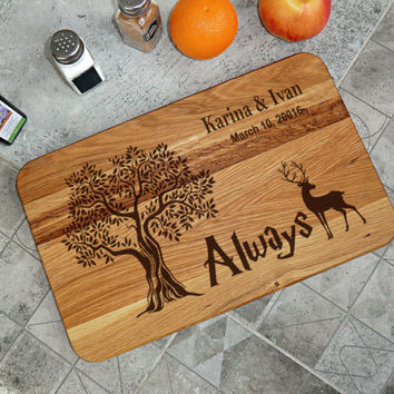 Harry Potter Cutting board Wedding Gift Personalized Chopping board Cutting board gift Custom Cutting Board Wedding Gifts