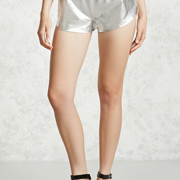 Coated Metallic Shorts