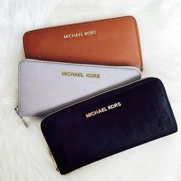 MK tide brand female zipper wallet card package