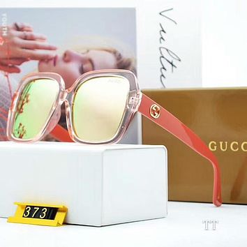 GUCCI Trending Women Men Personality Sun Shades Eyeglasses Glasses Sunglasses Pink/Watermelon Red Frame I-A-SDYJ