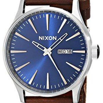 Nixon Mens A105/1524 Sentry Leather Watch