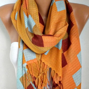 Spring Mustard Cotton Scarf Shawl Summer Cowl Oversized Wrap Gift Ideas For Her Women Fashion Accessories Mother Day Gift Women Scarves