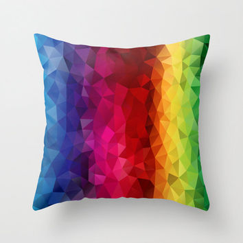 Pillow Rainbow Strips Pillow cover Throw pillow Cushion covers Pillow case Accent pillow Couch pillow Decorative pillows 16x16 18x18 16x24