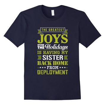 Military Sister TShirt Christmas Gift For Deployed Soldier