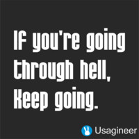 IF YOU'RE GOING THROUGH HELL, KEEP GOING QUOTE VINYL DECAL STICKER