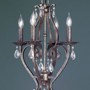 Murray Feiss Mademoiselle 4 Light Bronze Mini Chandelier - F1800/4PBR