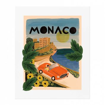 Monaco Art Print by RIFLE PAPER Co.   Made in USA