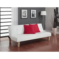 Walmart: Aria Futon Sofa Bed, White
