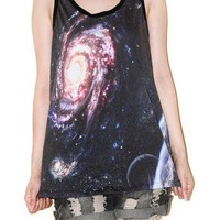 Star Cluster Galaxy Andromeda Universe Singlet Tank Top Tee Size S