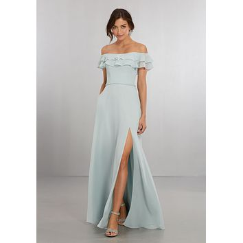 Morilee Bridesmaids 21562 Boho Off the Shoulder Bridesmaid Dress
