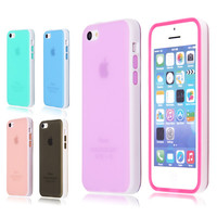 Soft Silicone Translucent Rubber Bumper Matte Gel Case Cover for iPhone 5C