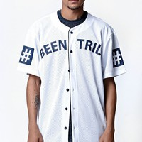 Been Trill White Mesh Baseball Jersey - Mens Tee - White