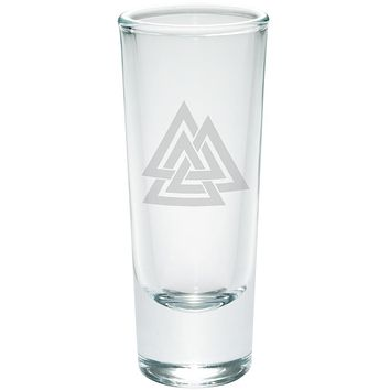 Viking Valknut Odin Symbol Etched Shot Glass Shooter