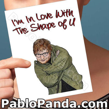 Funny Anniversary | Ed Sheeran | Funny Card For Him Boyfriend Card Pop Star Boyfriend Gift I Like You Card Anniversary Gift Card For Men Men