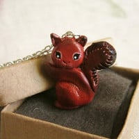 Squirrel necklace, Bird necklace , Totem Jewelry With a Message