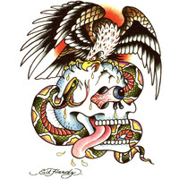 Ed Hardy Skull Eagle Temporary Tattoo