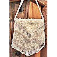 Vintage Fringe  Beaded Bag