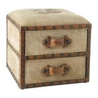 Darlington pouffe with drawers