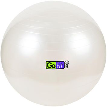 Gofit Exercise Ball With Pump (65cm; White)