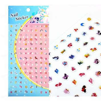 Kids My Little Pony Nail Sticker PVC Nail Art Stickers Decals Horse Pony Manicure Nail Art Decoration