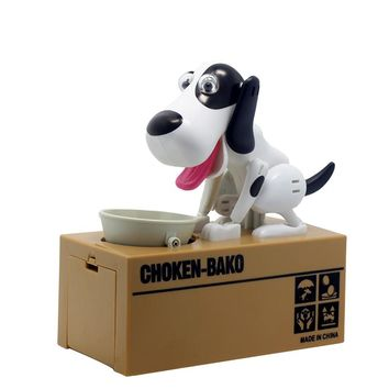 2017   Best  selling products creative 6  colors Piggy bank Robotic Dog Bank Canine Money Box Doggy Coin Bank