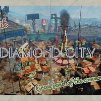 Fallout Poster | Diamond City travel poster | Vintage travel poster | Videogame art