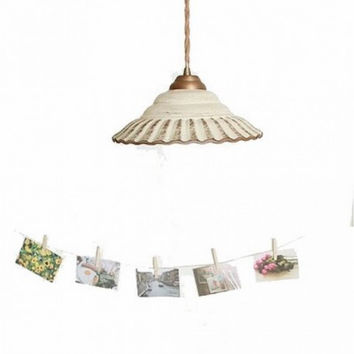 Modern fashion countryside living room bookroom children room bar counter hallway ceramic pendant lamp light
